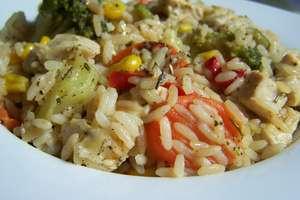 Risotto z warzywami i kurczakiem