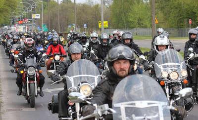 Pokazy motocyklowe i parada ulicami Olsztyna