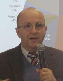 Leszek Jarosz, prezes firmy DeLaval, podczas konferencji, która odbyła się 26 marca w WMODR w Olsztynie