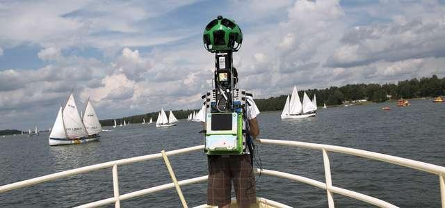 W 2014 r. zespół Google wykonał panoramiczne zdjęcia na Mazurach za pomocą specjalnego plecaka Street View - Trekkera - full image