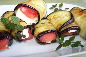 Grillowane roladki z bakłażana i sera feta