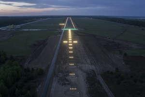 Test oświetlenia i budowa Portu Lotniczego Olsztyn-Mazury. FILM!
