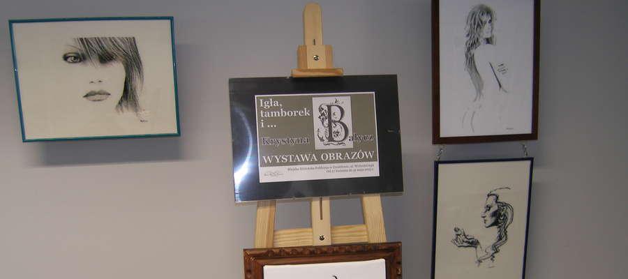 Fragment wystawy Krystyny Bałycz w MBP w Działdowie