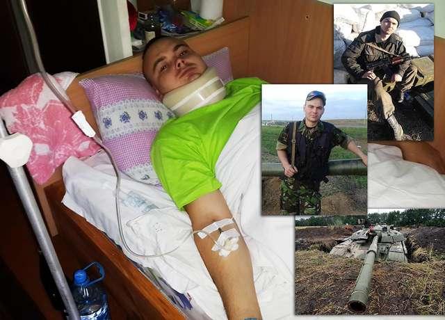 Ranny Polak - czołgista leczy się w szpitalu wojskowym w Winnicy  - full image