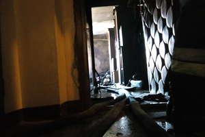Pożar mieszkania w centrum Reszla