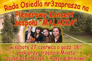 Plenerowy koncert zespołu Malaika