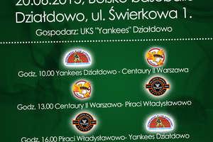 Baseball: 1 ligowcy pokażą się w Działdowie – Yankeesi zagrają na swoim boisku