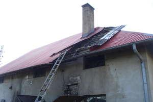 Pożar stolarni w Mikołajkach