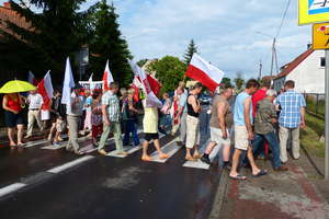 Uwaga utrudnienia w ruchu - blokada DK 16 w Sorkwitach