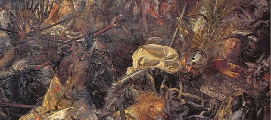"Fragment obrazu ""Bitwa pod Grunwaldem"" Jana Matejki z 1878r."