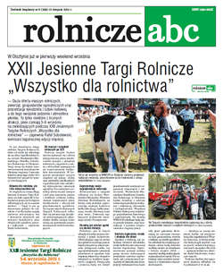 Rolnicze ABC - sierpień 2015