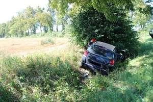 Opel wpadł do rowu