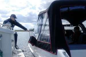 Pijany wczasowicz pływał łodzią motorową z rodziną
