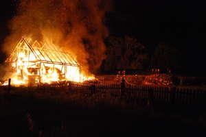 Pożar stodoły w Jeziorowskich