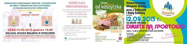 Festyny i pikniki na pożegnanie lata - sobota pełna imprez w Dywitach! - full image