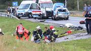 41-letni motocyklista zginął po zderzeniu z policyjnym radiowozem