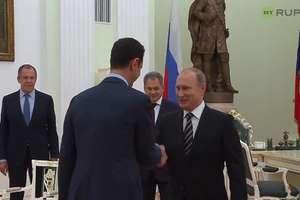 """Putin spotkał sięz prezydentem Syrii i obiecał """"efektywne wsparcie"""" w walce"""