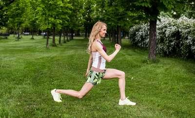 Pani gruszka na diecie i treningu
