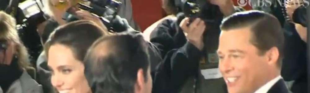 Brangelina w błysku fleszy podczas premiery filmu Nad morzem