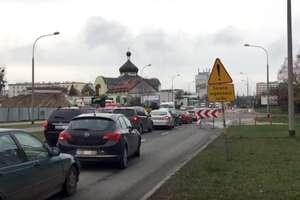 Korki przy Dworcu Głównym w Olsztynie, objazd dla kierowców [FILM i MAPKA]