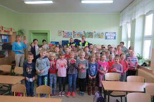 Policjanci z wizytą w Szkole Podstawowej w Orżynach