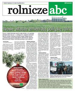 Rolnicze ABC - grudzień 2015