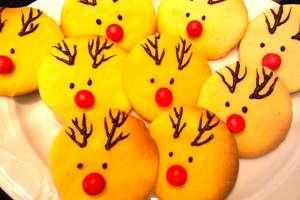 Kruche ciasteczka renifery