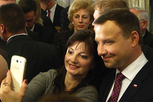 Prezydent Andrzej Duda spotkał się z Polakami na Ukrainie