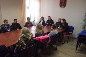 Gimnazjaliści rozmawiali o samorządzie z władzami Bisztynka