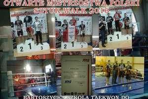 Taekwondocy z Bartoszyc trzy razy stawali na podium otwartych mistrzostw Polski