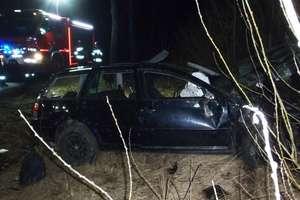 Pijany 38-latek stracił panowanie nad pojazdem i wjechał do rowu