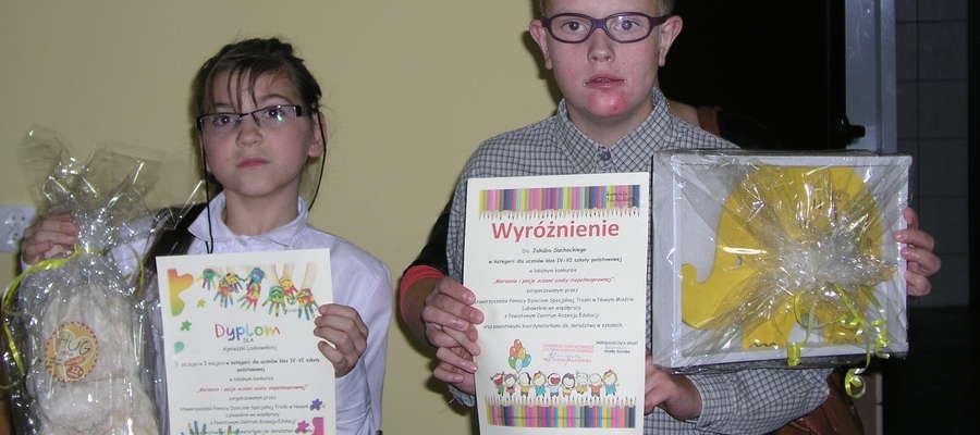 Agnieszka Laskowska i Jakub Suchocki z nagrodami w konkursie