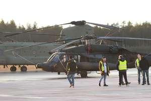 Amerykańskie śmigłowce wojskowe wylądowały na lotnisku Olsztyn-Mazury [ZDJĘCIA]