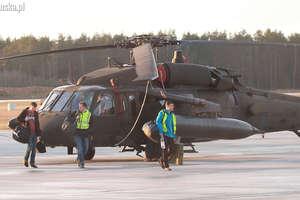 Wojskowe helikoptery latają nad regionem