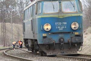 Lokomotywa wykoleiła się pod Olsztynem