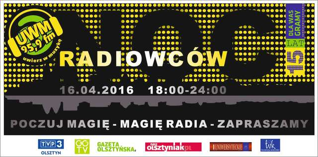 Poznaj Radio UWM FM od środka. Wybierz się na noc radiowców - full image