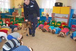 """Pies służbowy Megi odwiedził przedszkole """"Fantazja"""""""