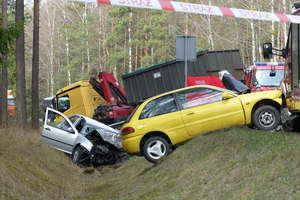 Śmiertelny wypadek na DK-58. Zginął były burmistrz Szczytna