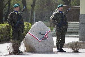 Skwer przed Klubem Garnizonowym nosi im. 75 pułku zmechanizowanego