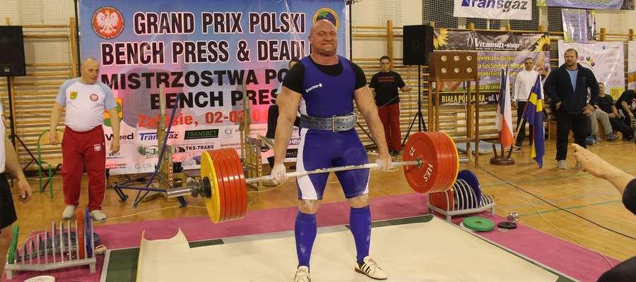 Mariusz Bojanowski podczas mistrzostw Polski w Zalesiu