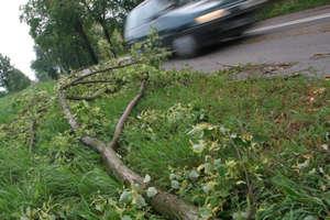 Gwałtowne burze narobiły szkód.  Ostródzcy strażacy interweniowali kilkanaście razy
