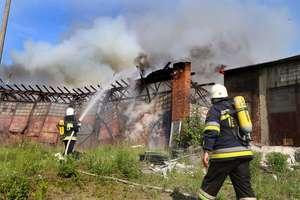 Spłonęła stara parowozownia w Olsztynie