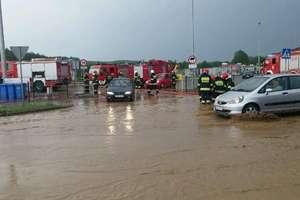 Potężna ulewa zalała domy i sklepy w Nowym Mieście Lubawskim i okolicy