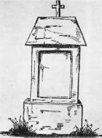 Tak wyglądała kapliczka na grobie Józefa Giedrojcia w Sępopolu.