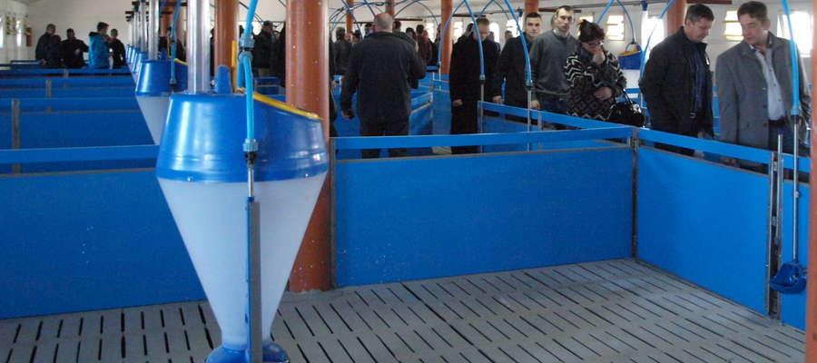 Goście mogli zwiedzać nowy obiekt, który pomieści 1 500 tuczników