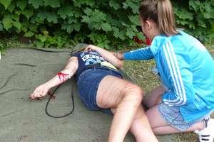 Napad z nożem w ręku  w Parku Gregoroviusa.