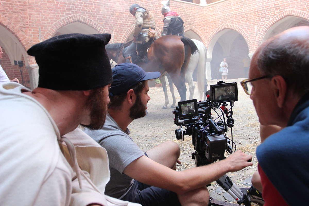 Zdjęcia do nowego filmu o Krzyżakach kręcili na zamku w Lidzbarku Warmińskim - full image