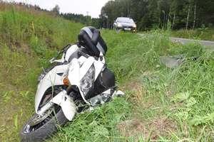 Motocyklista spowodował wypadek