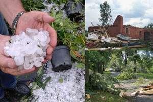 Trąby powietrzne i gradobicia w regionie: Zniszczone uprawy, zerwane dachy, liczenie strat