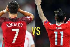 Przed meczem Portugalia - Walia: Ronaldo częściej strzela, ale to Bale imponuje celnością